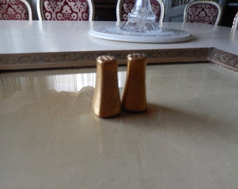 GOLD SALT and PEPPER Shakers