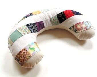 Travel neck pillow, cotton patchwork neck pillow, airline pillow neck support pillow, car headrest, travel cushion, car sleeping pillow