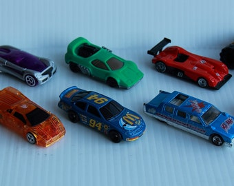 Die Cast Lot of 10 Vintage Vehicles, Tonka, Hot Wheels, Hasbro, Miniature Collectibles, Car Collection, Toy Cars