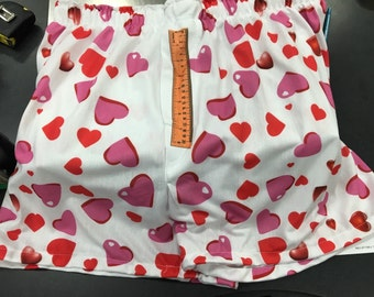 Fun Boxer Shorts with Hearts and Measurement
