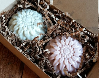 Chrysanthemum Soap Gift Box, bridesmaids gift set, Wedding Gift, birthday gift, soap gift set, soap in a box,4oz each