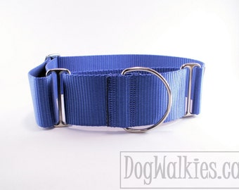 """Mix and Match Wide 2"""" (50mm) Martingale Collars - You pick the color - 2 color collar - custom extra wide martingale collar"""
