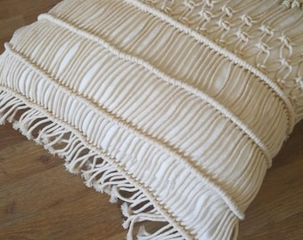 how to make macrame pillow cover