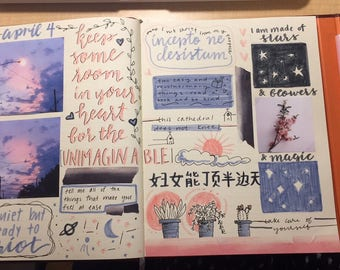 Personalized Bullet-Journal Style Collage