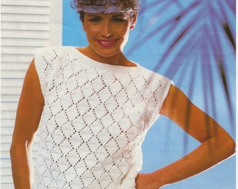 summer knitted cotton top pattern (easy)