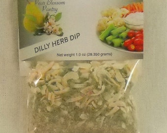 Creamy Dilly Herb Dip Mix EZ Party Snacks Favors Hostess Gifts