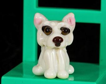 Akita Hund Lampwork Perle