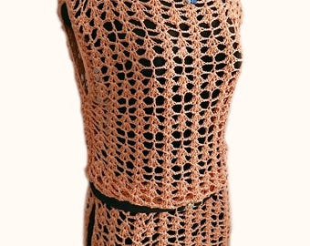 Crocheted Sunny lace tunic - free worldwide shipping