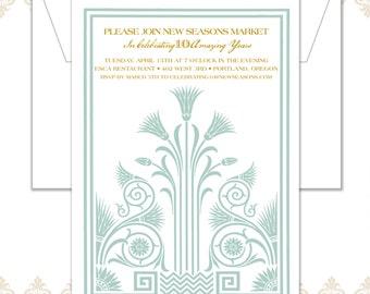 Art Nouveau Anniversary Invitation
