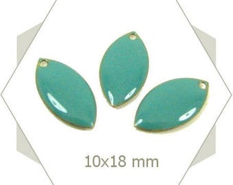 turquoise blue enameled shuttles SEE03 6 charms