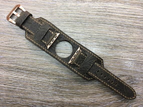 Apple Watch Band | Apple Watch Strap | Apple Watch Cuff Band | Apple Cuff strap | Leather watch Band For Apple Watch 38mm - Series 1 &  2