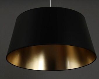 Deckenlampe schwarz /Gold   Metropol Durchmesser unten 50 cm Höhe 23cm