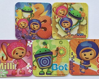 Team Umizoomi Refrigerator Magnets, Birthday Party Favors, 5 Nickelodeon Nick Jr. Fridge Magnet, Milli, Bot & Geo, Party Treat Bag