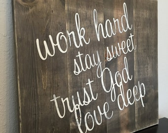 Made to Order Rustic Wooden Sign - Motivational Signs - Inspirational Signs - Distressed Wall Decor - Pallet Sign
