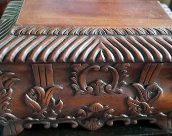 Mahogany Jewelry box Handmade in Indonesia