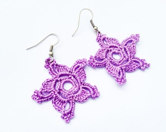PDF Tutorial Crochet Pattern...Dangle Earrings -2