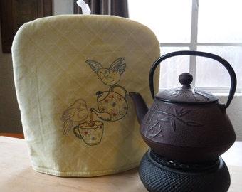 Sunshine Yellow Tea Pot Cozy, Tea Cosy, Lined Tea Pot Cover, Insulated Cover, Tea Lover, Tea Accessory, English Tea, Fabric Tea Pot Warmer,