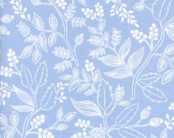 Queen Anne Pale Blue from Les Fleurs  - 1/2 Yard - Anna Bond, Rifle Paper Co. for Cotton and Steel