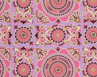 Cotton Amy Butler Cotton Mantra in Violet from the Eternal Sunshine Collection 1/2 Yard