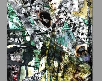 Abstract Collage | Mixed Media Canvas