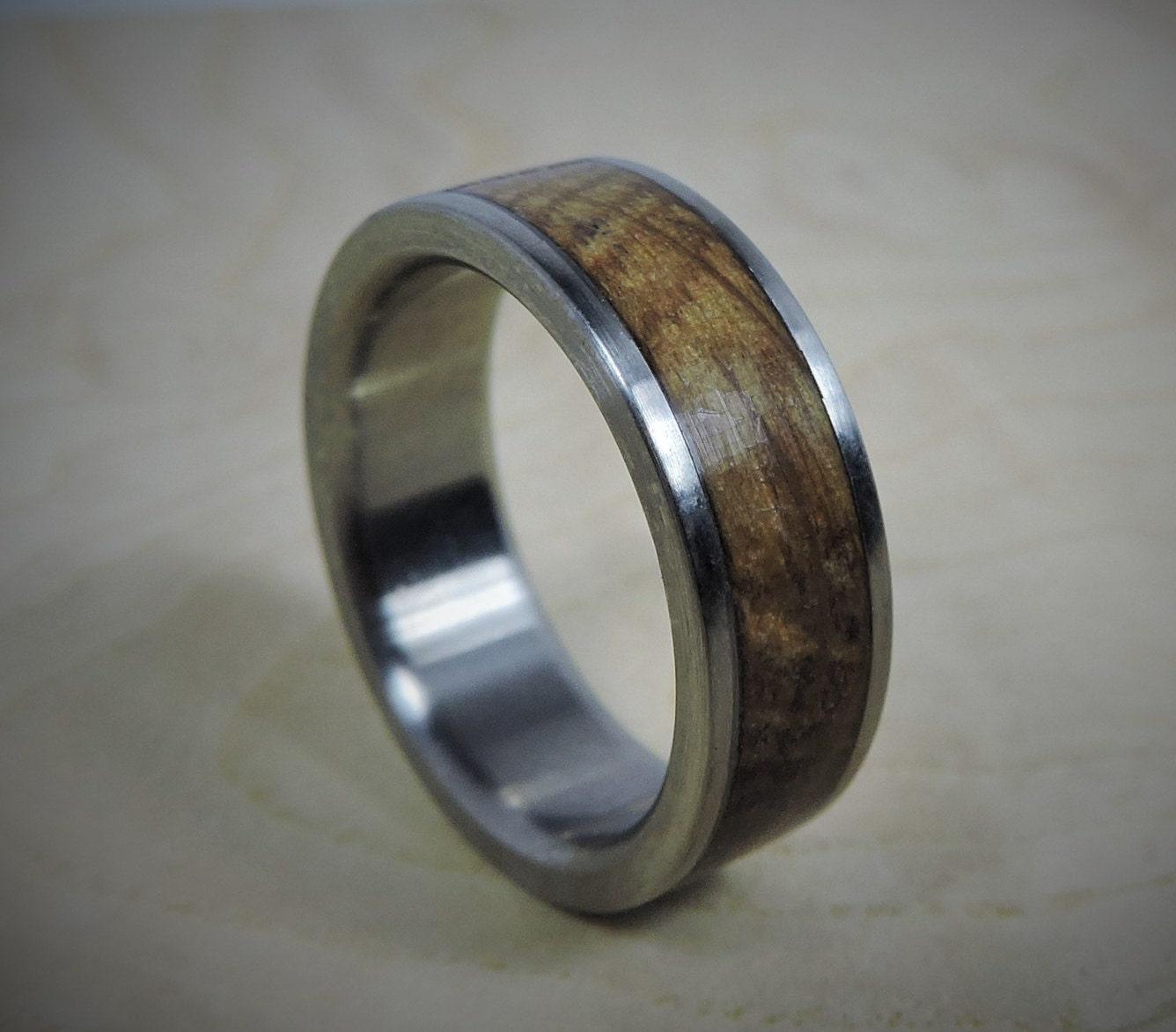 Titanium Ring Wood Ring Custom Made Ring Wedding Ring