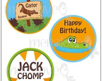 "Gator Swamp - DIY - 4"" Cake Topper"