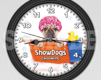Dog Grooming Salon - Pet Groomer - Personalized Wall Clock ITEM#010