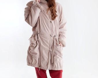 Soft 90s lady parka / Vintage eskimo faux fur parka / Vintage ladies parka with fake fur collar / Vintage winter coat / Size L