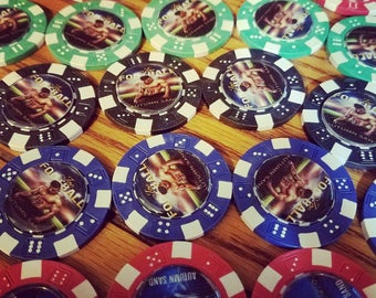100 Game Quality Poker Chips with your Book Cover and/or Artwork