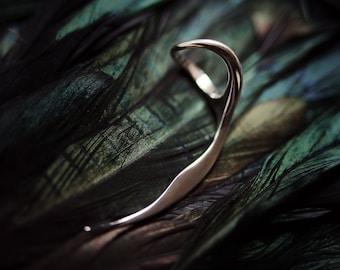 Scythe white silver 925 ring