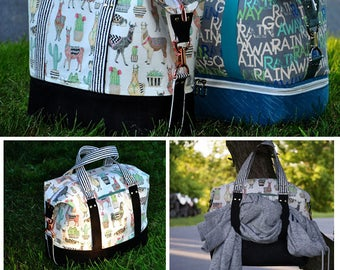 Xanadu Traveler PDF Sewing Bag Pattern- Includes 2 Sizes and 2 Options - RLR Creations