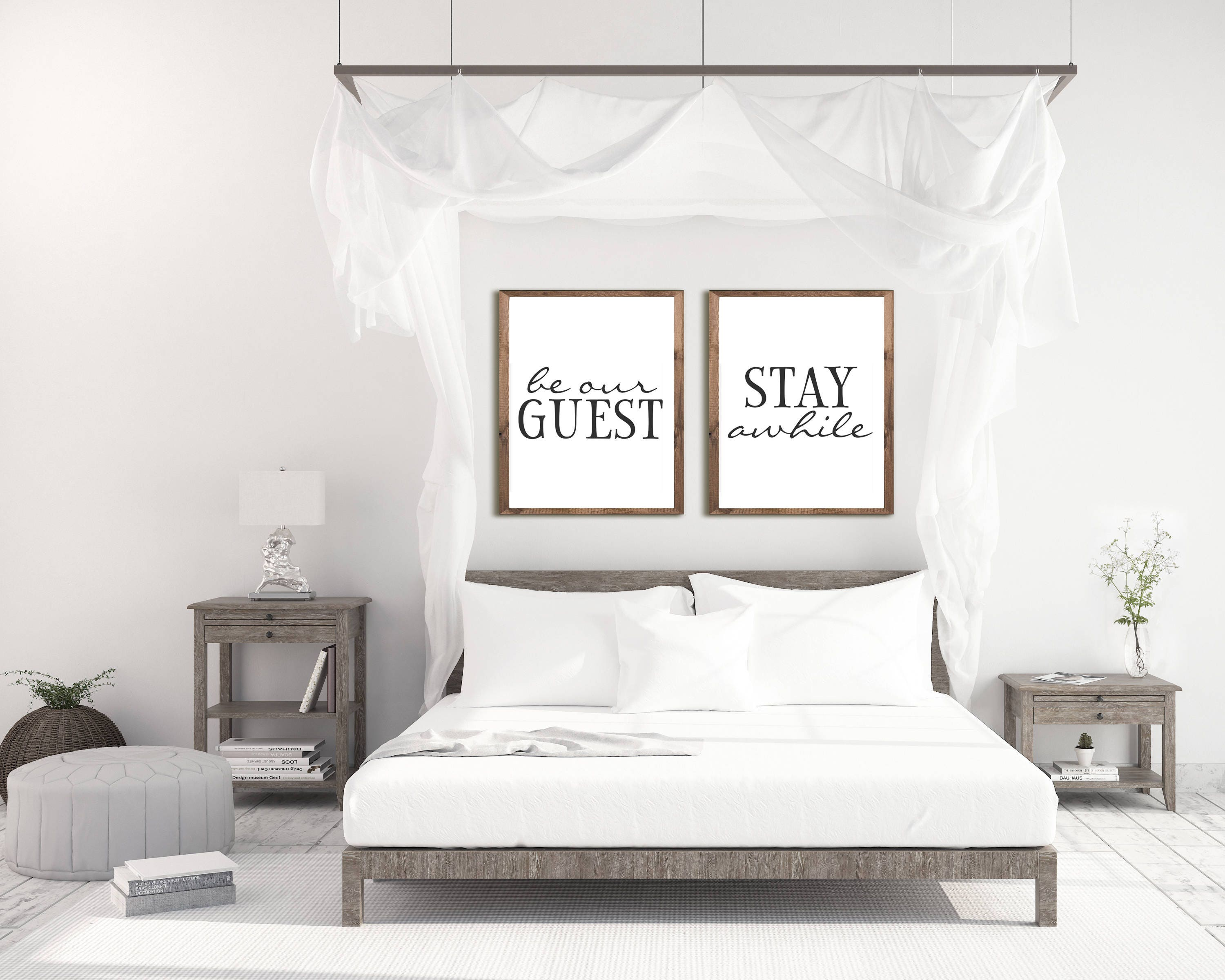 Guest Room Decor Be Our Guest Sign Guest Room Art Stay