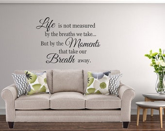 Family Wall Decal / Living Room Decal / Family Decal / Dining Room Decal /  Life