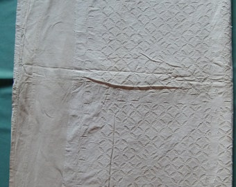 Patchwork kantha quilt appliqué throw cut work white cotton handmade king size bed cover ethnic ralli from india
