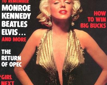 Marilyn Monroe on Cover    Gallery Magazine  1987   Kennedy  Beatles  Elvis  Win Big Bucks  Opec  Future Cars  Curvaceous Women    mature