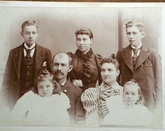Identified as The Hight family of Toledo Ohio cabinet card antique photo