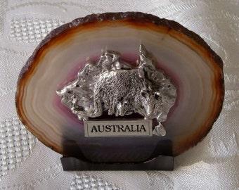 Australian pewter on Agate