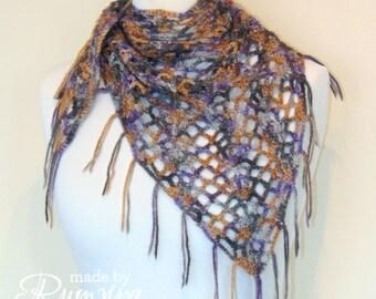 Crochet Pattern | Lacy Infinity Neckerchief [One Skein!]