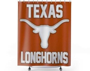 University Of Texas Longhorns Jersey Shower Curtain