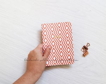 2018 Agenda mini size . Small Planner 2018 . Monthly Planner . Diary with personalised cover . Monthly view Calendar . Small size agenda