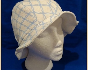 Simone ~ Handcrafted from recycled clothing, Cloche, Flapper Style, Chemo Hats