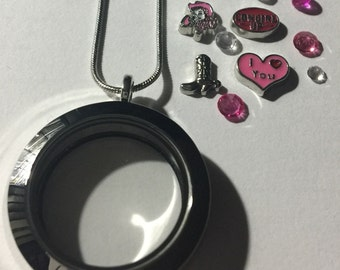 Silver Cowgirl Locket Necklace