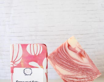 Peppermint Swirl Soap - All Natural Soap, Peppermint Soap, Wrapped Soap, Cold Process Soap, Bar Soap