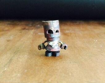silver heart Smile Robot Girl