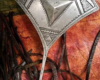 Old Tuareg Tribal Aluminium Hair/Headpin Comb