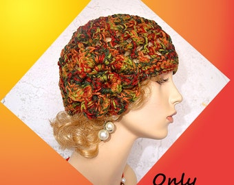 Cloche Crochet Hat Pattern PDF
