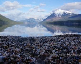 Lake Wenatchee, WA Mountain Reflections with Rocky Beach