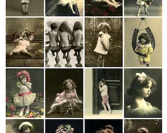 CHILDREN ARE CUTIES Vintage Postcards - Instant Download Digital Collage Sheet