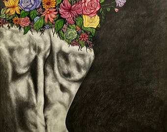 art, fine art, drawing, illustration, charcoal, graphite, colored pencil