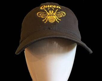 Ladies Queen Honey Bee Cap, Beekeeper gift, Ladies beekeeper, gift for her, mom gift, girlfriend gift, Ladies cap